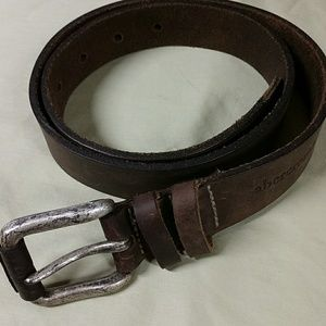Abercrombie & Fitch distressed brown leather belt